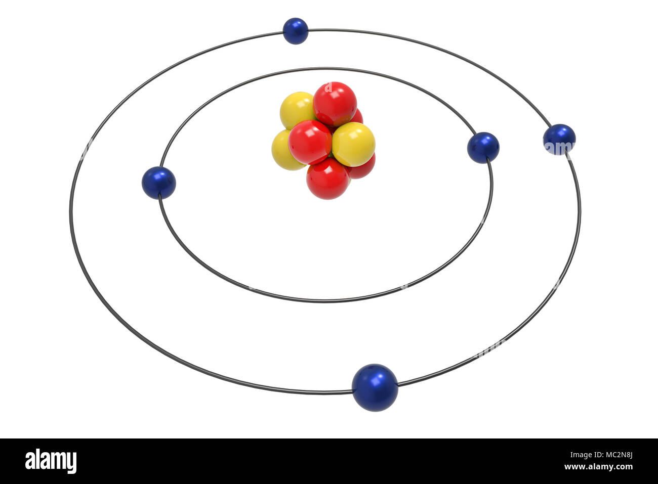 Chemical element boron stock photos chemical element boron stock bohr model of boron atom with proton neutron and electron science and chemical concept ccuart Choice Image
