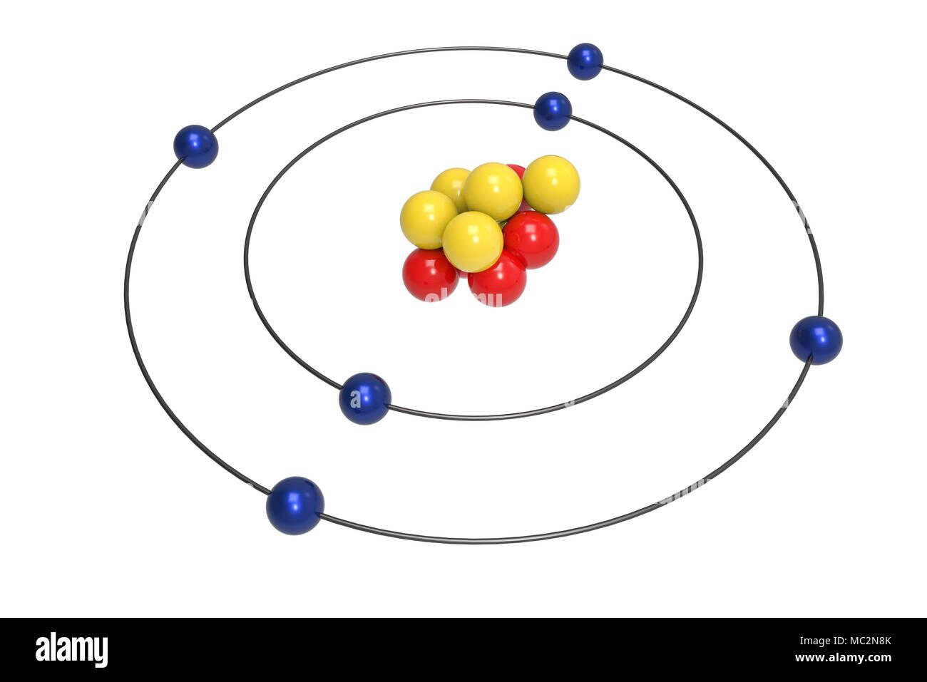 Carbon 3d diagram residential electrical symbols bohr model of carbon atom with proton neutron and electron science rh alamy com carbon dot diagram magnesium diagram ccuart Images