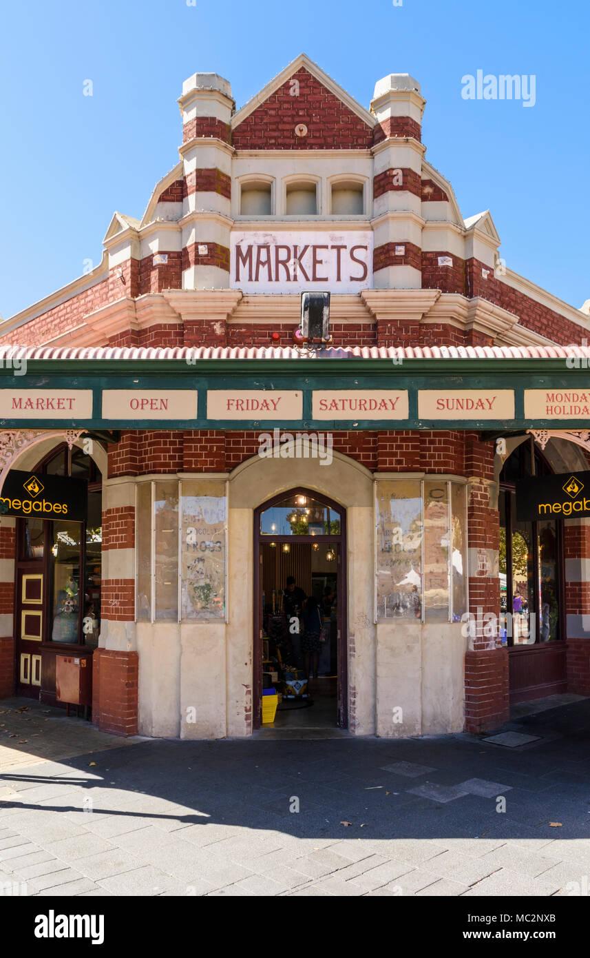 The iconic Fremantle Markets building, Fremantle, Western Australia, Australia - Stock Image
