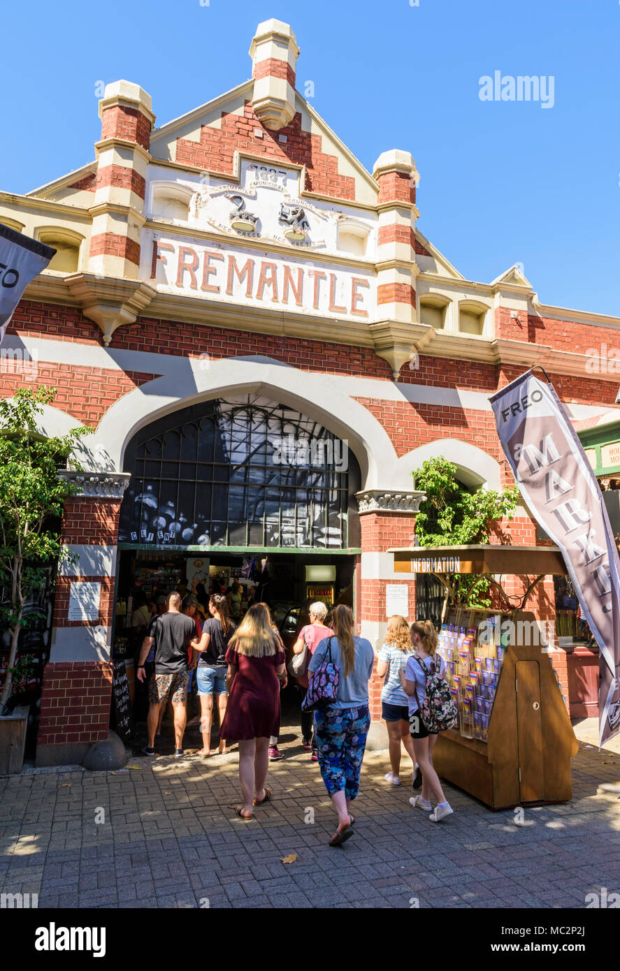 The iconic Fremantle Markets building, Fremantle, Western Australia, Australia - Stock Image