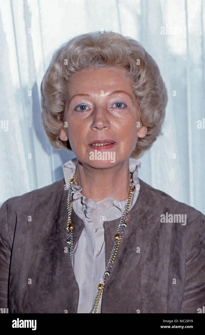 Annermarie Renger, Vizepräsidentin des Deutschen Bundestags, Deutschland 1982. Vice President of German parliament, Annemarie Renger, Germany 1982. Stock Photo