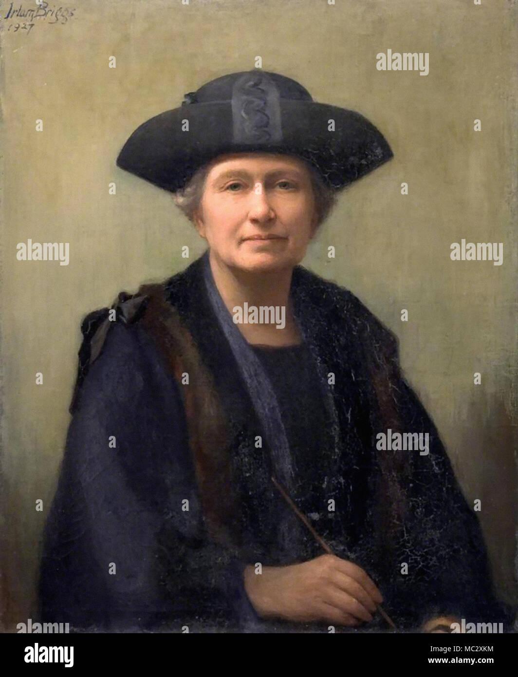 Briggs Emma Irlam - Ada E. Briggs Poole's First Woman Councillor - Stock Image