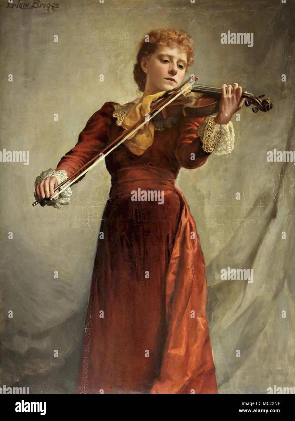 Briggs Emma Irlam - the Violinist - Stock Image