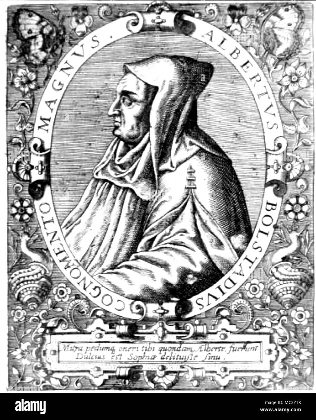 ALBERTUS MAGNUS (c1200-1280) German Catholic Dominican friar and bishop. - Stock Image