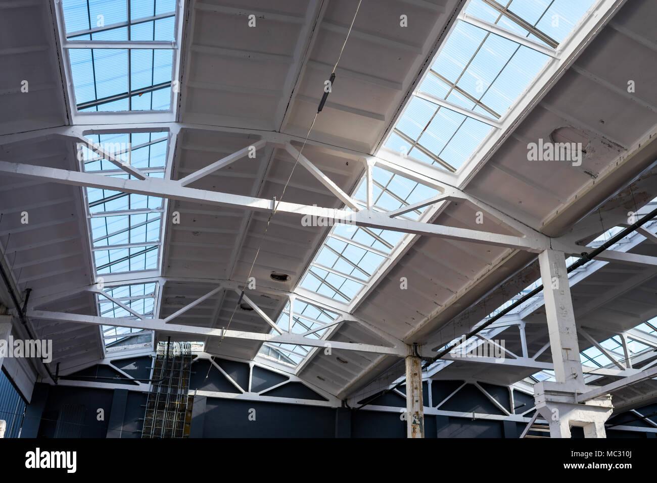 Solar Panels Roof Warehouse Stock Photos Amp Solar Panels