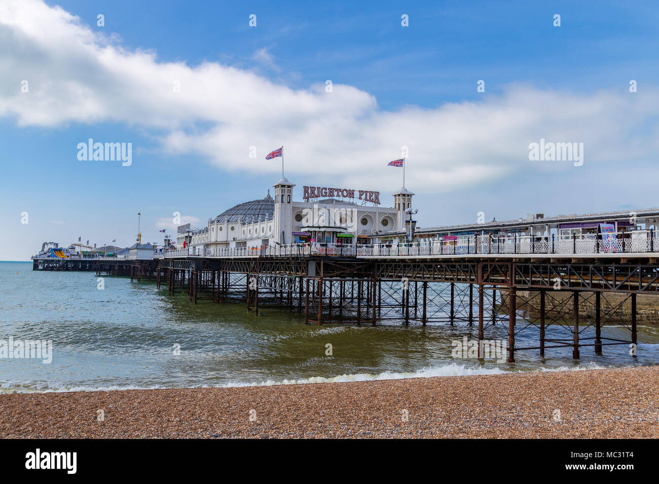 Brighton, East Sussex, England, UK - May 19, 2016: Clouds over the Brighton Pier - Stock Image
