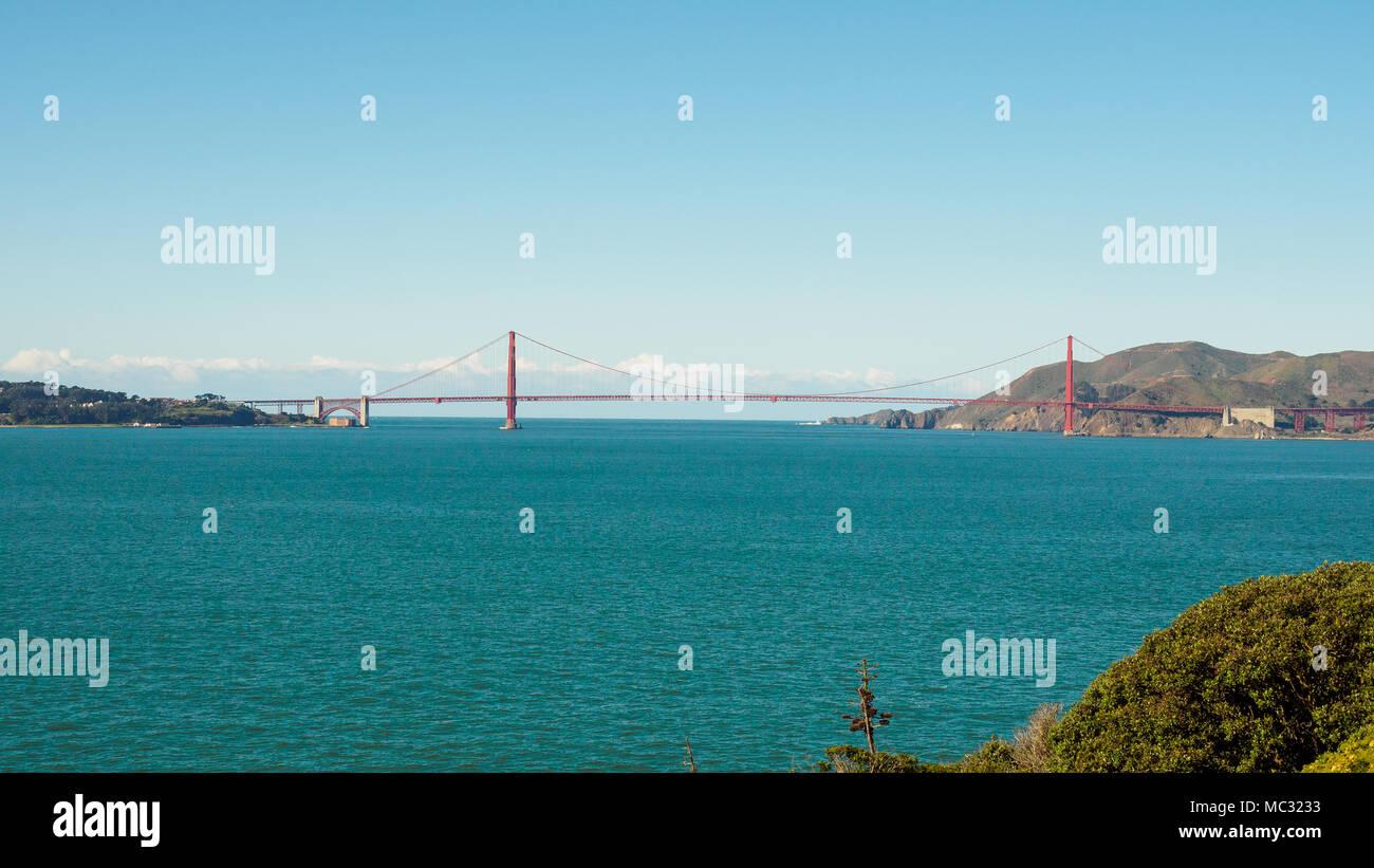 Alcatraz Island, an historic prison in San Francisco Bay Area, California, USA - Stock Image