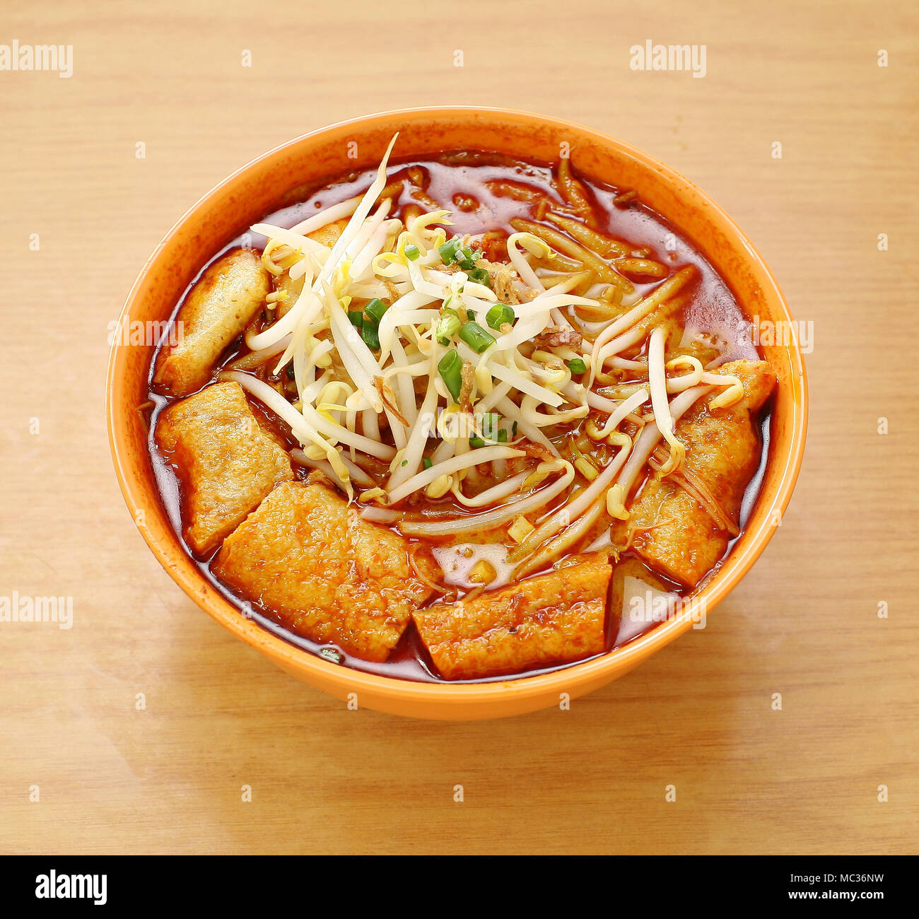 Curry Laksa Which Is A Popular Traditional Spicy Noodle Soup From The Peranakan Culture In Malaysia And Singapore Stock Photo Alamy