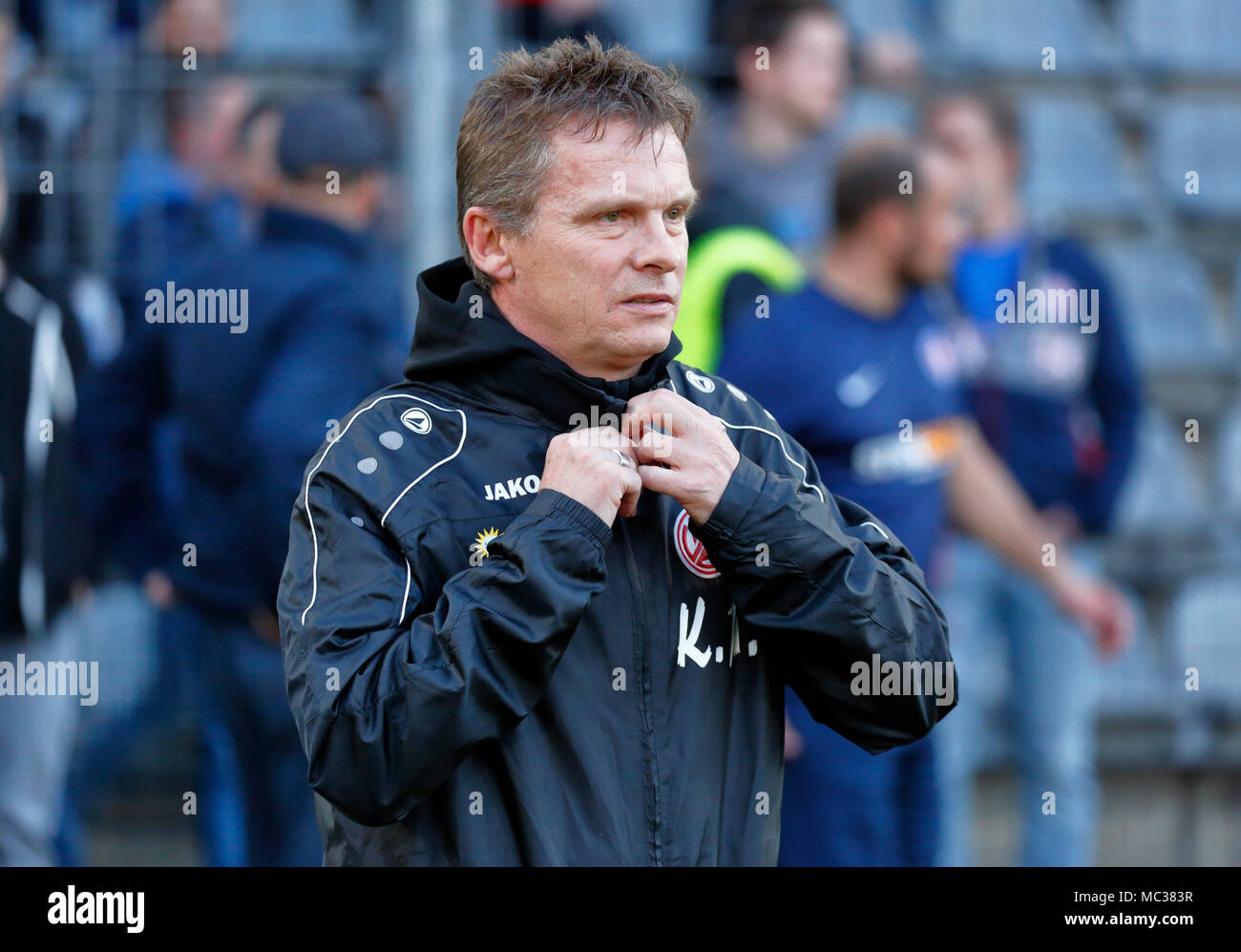 sports, football, Regional League West, 2017/2018, Wuppertaler SV vs Rot Weiss Essen 3:1, head coach Karsten Neitzel (RWE) - Stock Image