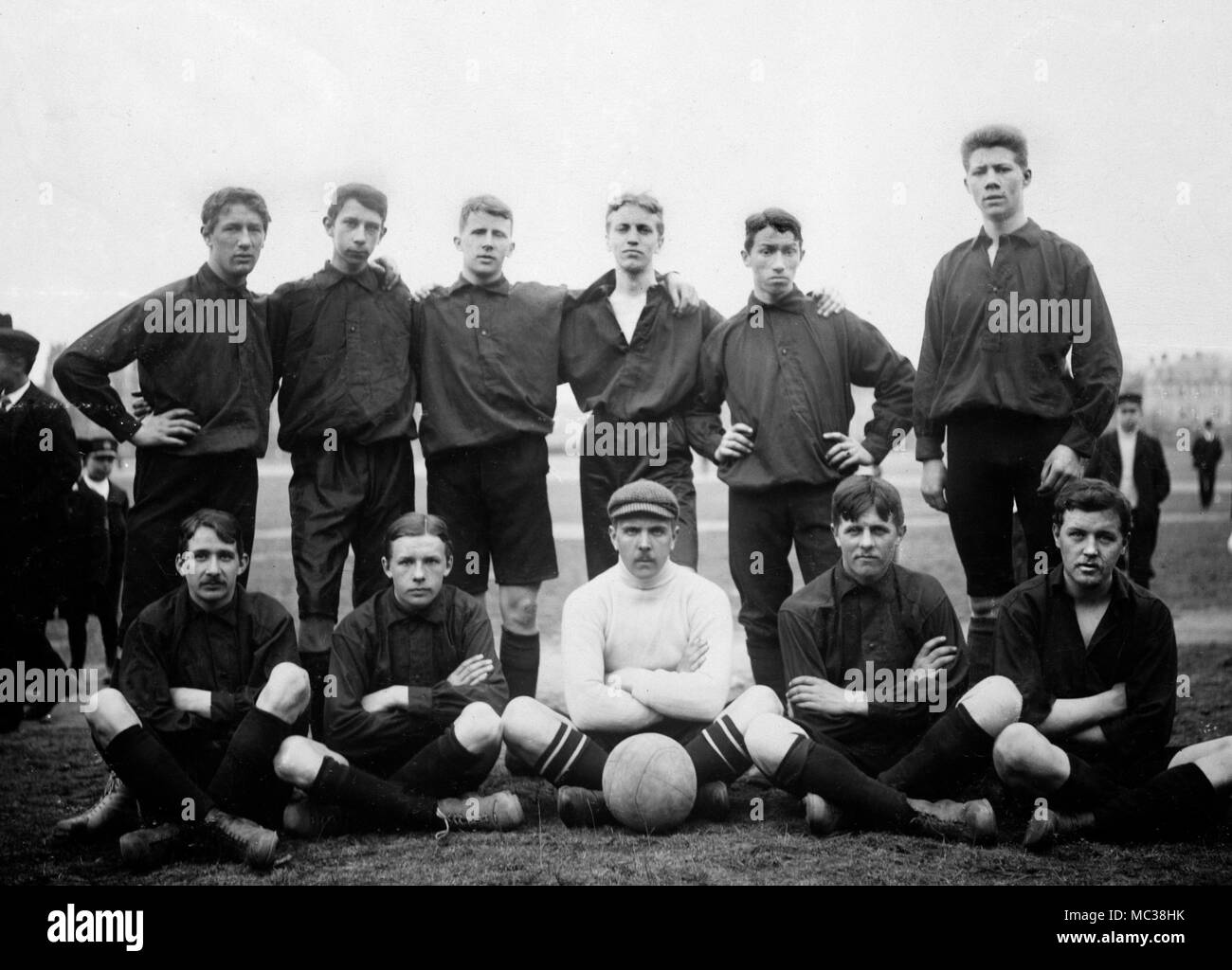 Swedish football team group portrait, ca. 1912. - Stock Image