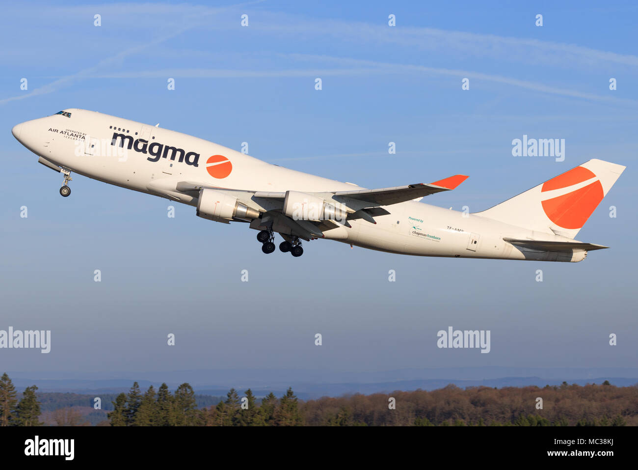 Hahn/Germany: Boeing 747 from Magma at hahn/Germany 28.03.2017 - Stock Image
