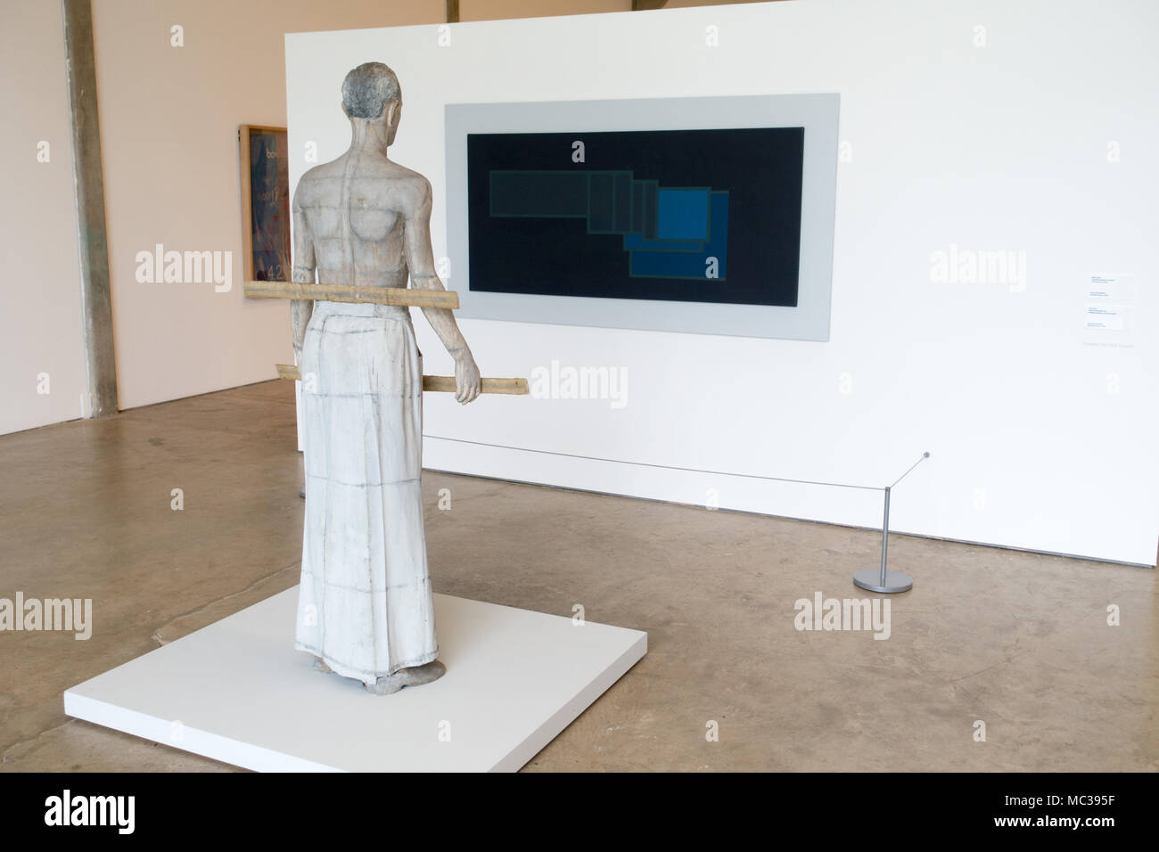 Ryan Gander curated a exhibition 'Night in the Museum' at the Yorkshire Scupture Park, UK. - Stock Image