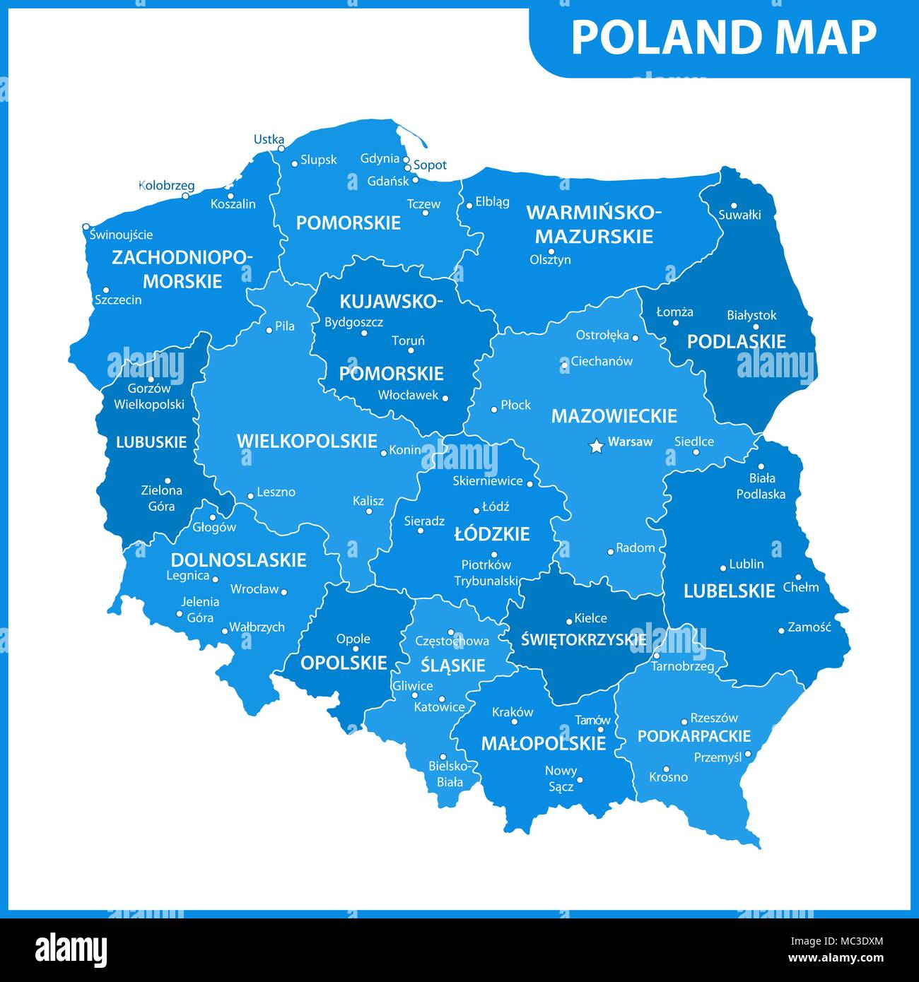 Poland Map Regions Stock Photos Poland Map Regions Stock Images