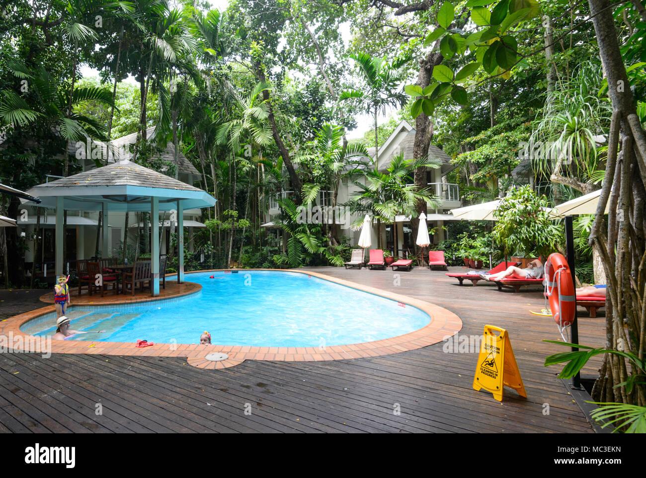 Pool Island Resort Queensland Australia Stock Photos Pool