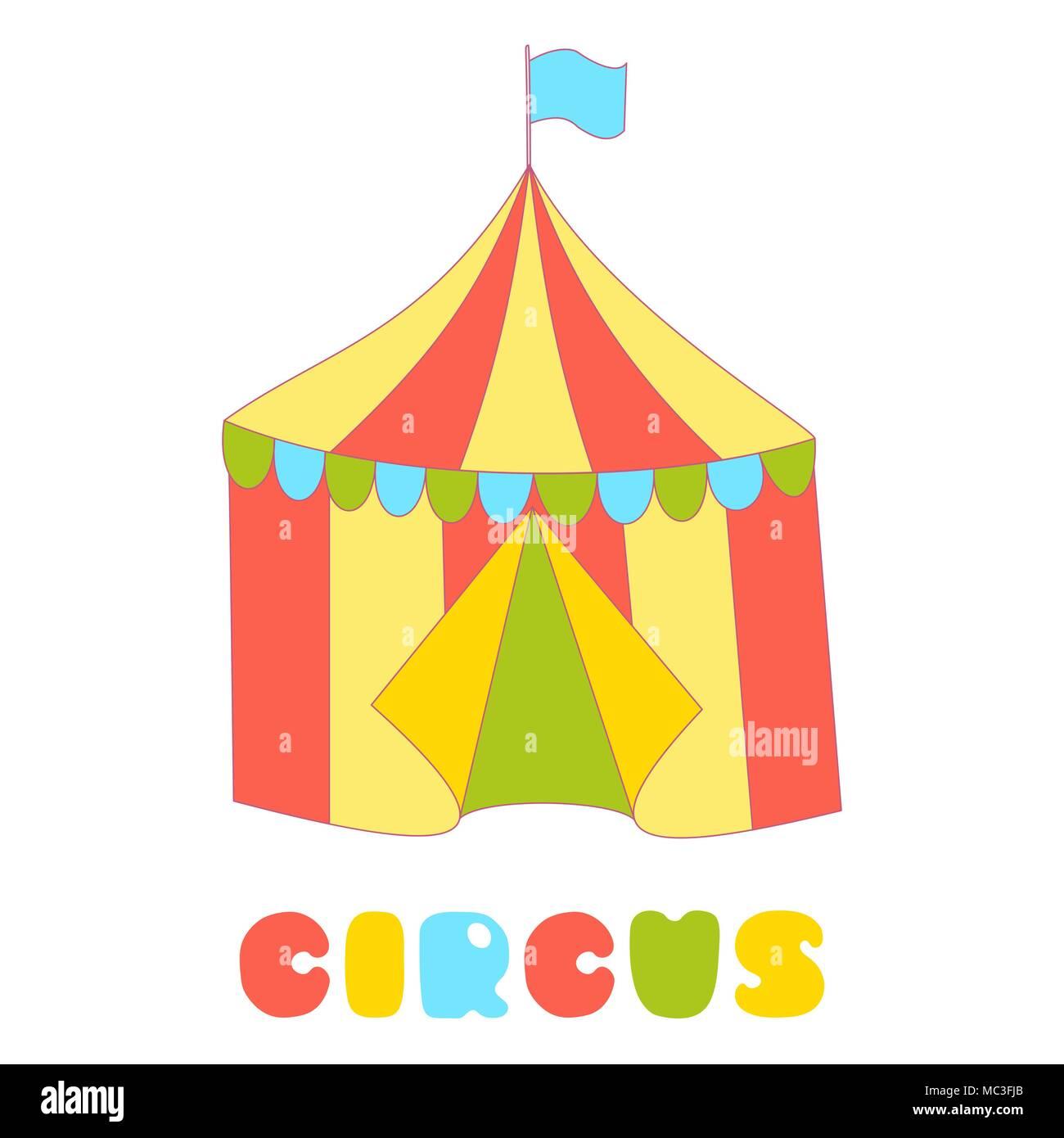 Cartoon Animal Circus Circus Tent Stock Photos & Cartoon Animal ...