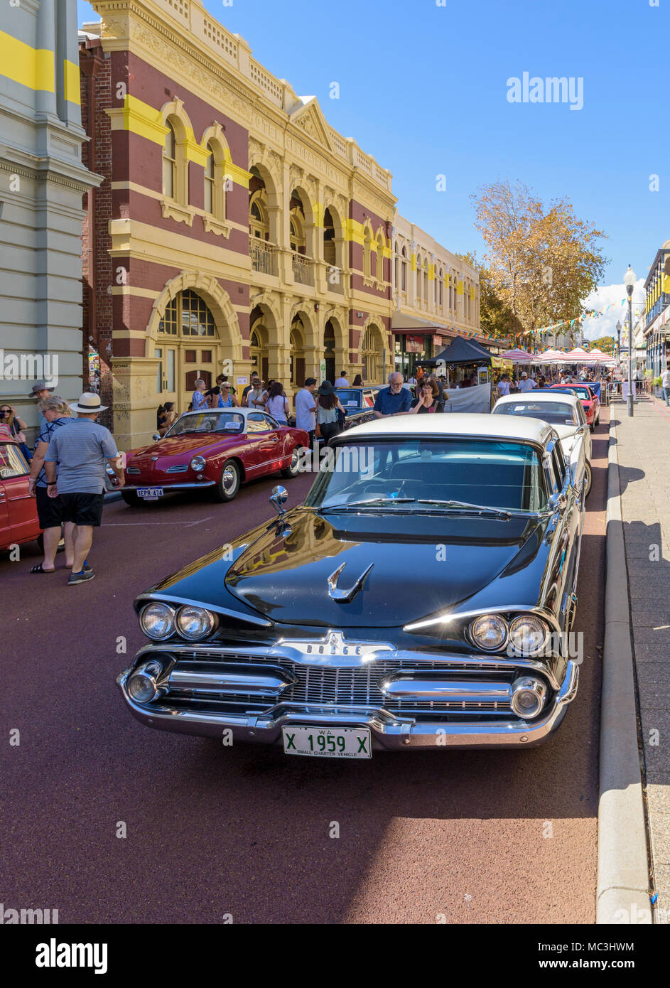 1959 Dodge Coronet American muscle car on the streets of Fremantle, Western Australia - Stock Image