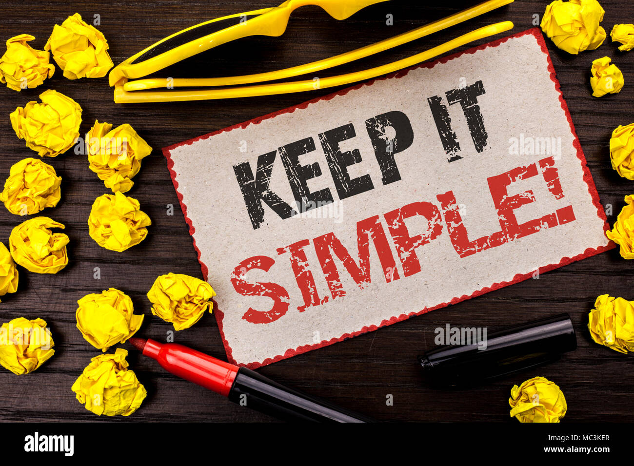 Conceptual Hand Writing Showing Keep It Simple Motivational Call
