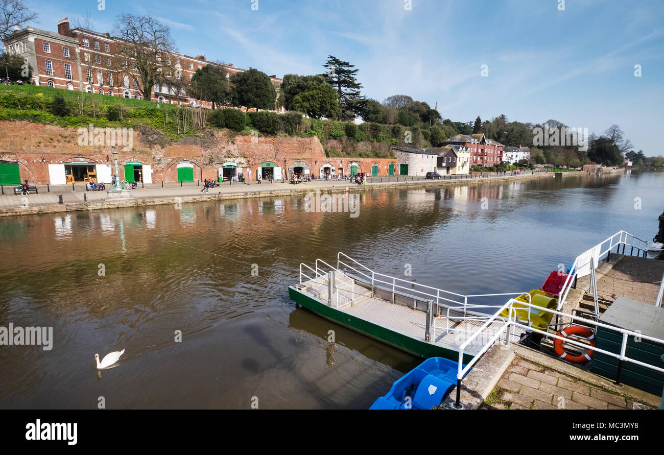 The chain ferry at Exeter Quay, Exeter, Devon,UK - Stock Image