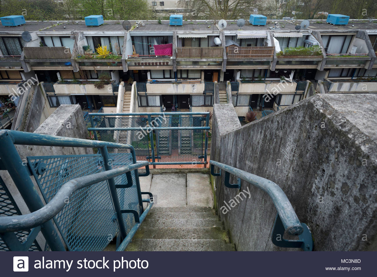 Alexandra Road housing estate in Camden: London. Stock Photo