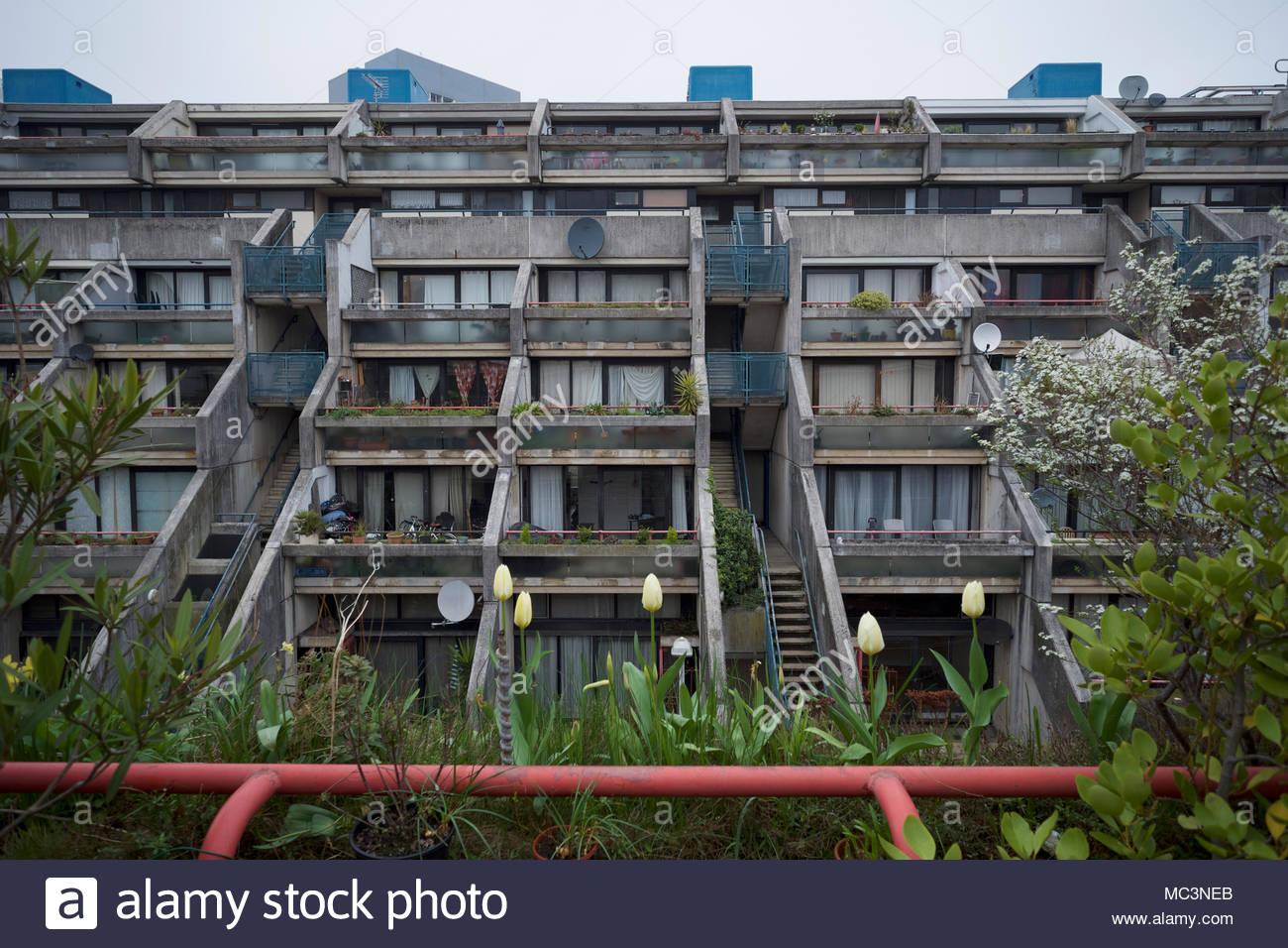 Alexandra Road housing estate in Camden: London. Stock Photo