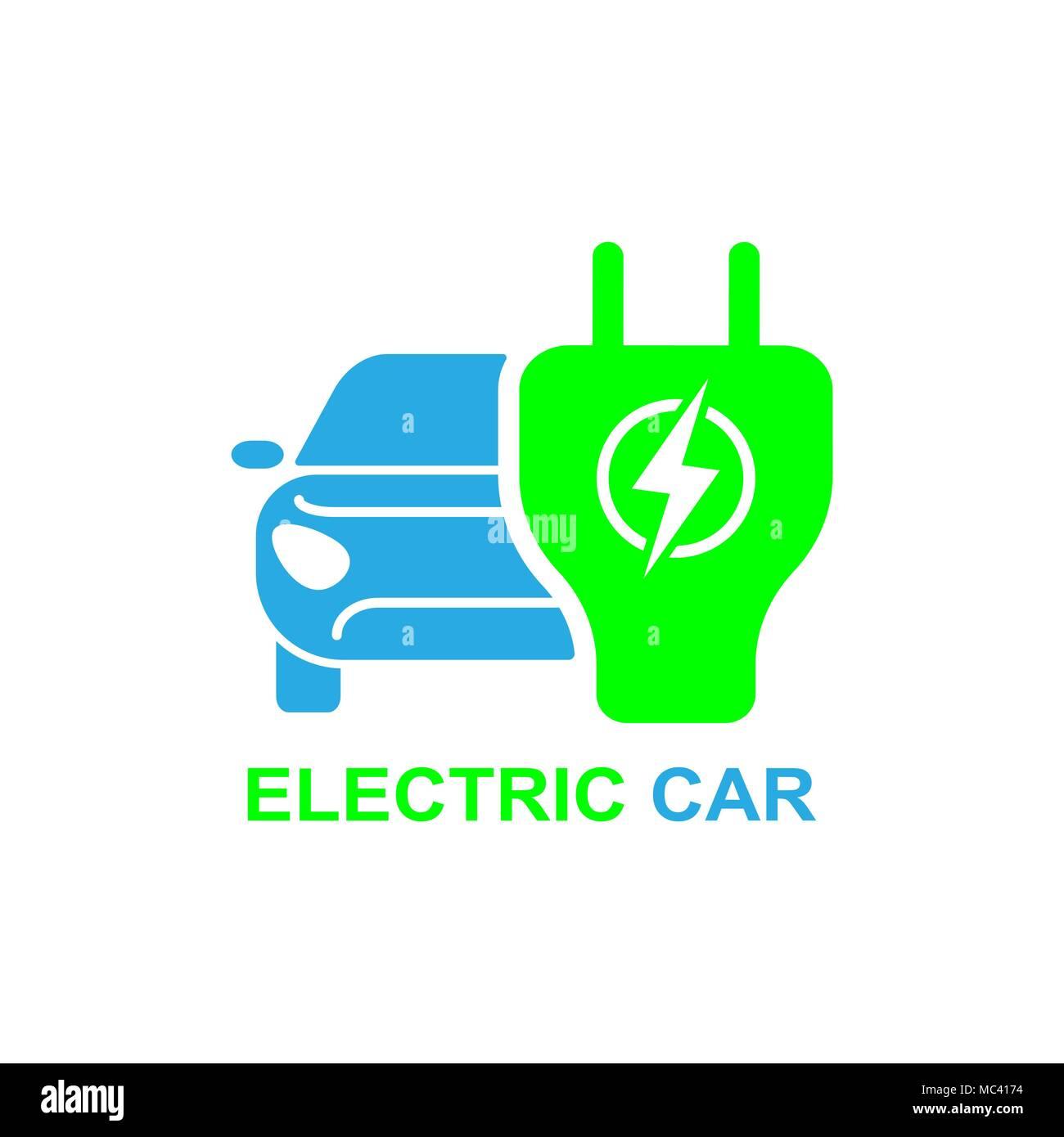 Electro Car Icon Logo Element Illustration Electro Car Symbol