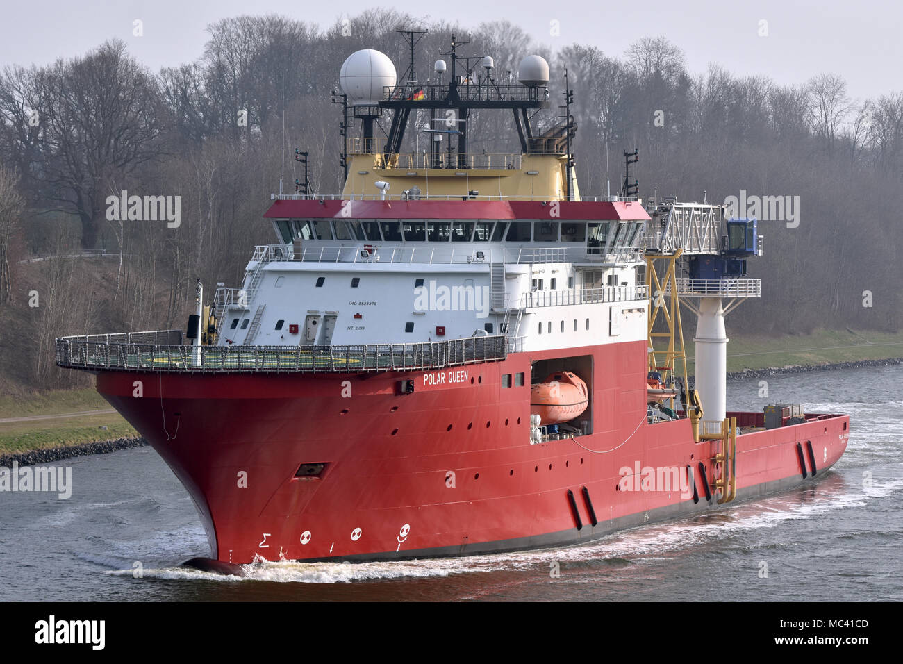 Offshore Support Vessel Polar Queen Stock Photo
