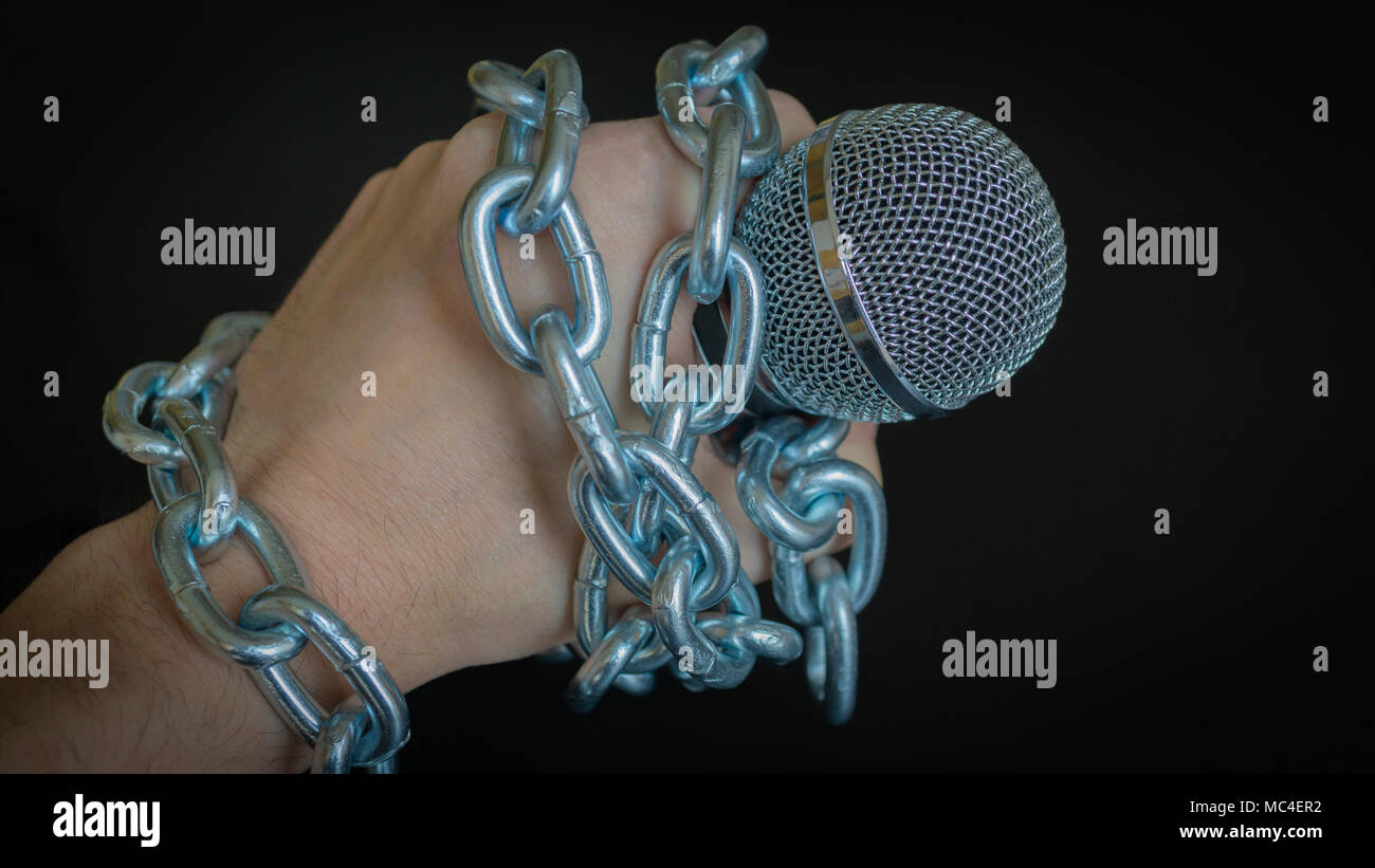 Freedom of the press is at risk concept - World press freedom day concept - Stock Image