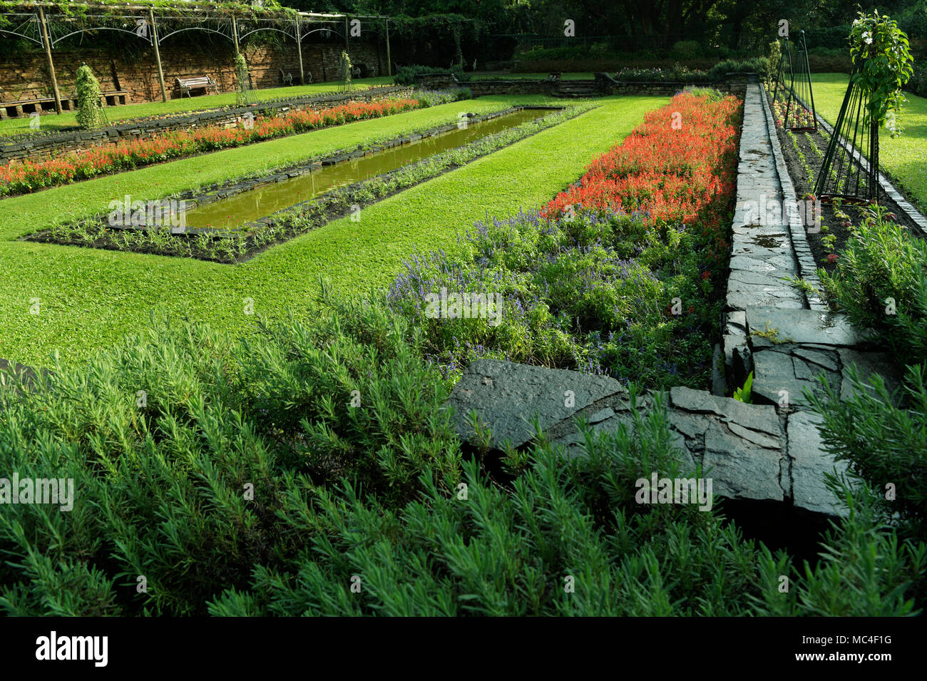 Captivating Classic English Sunken Garden Section Of The Beautiful Durban Botanical  Garden With Strong Lines And Shapes