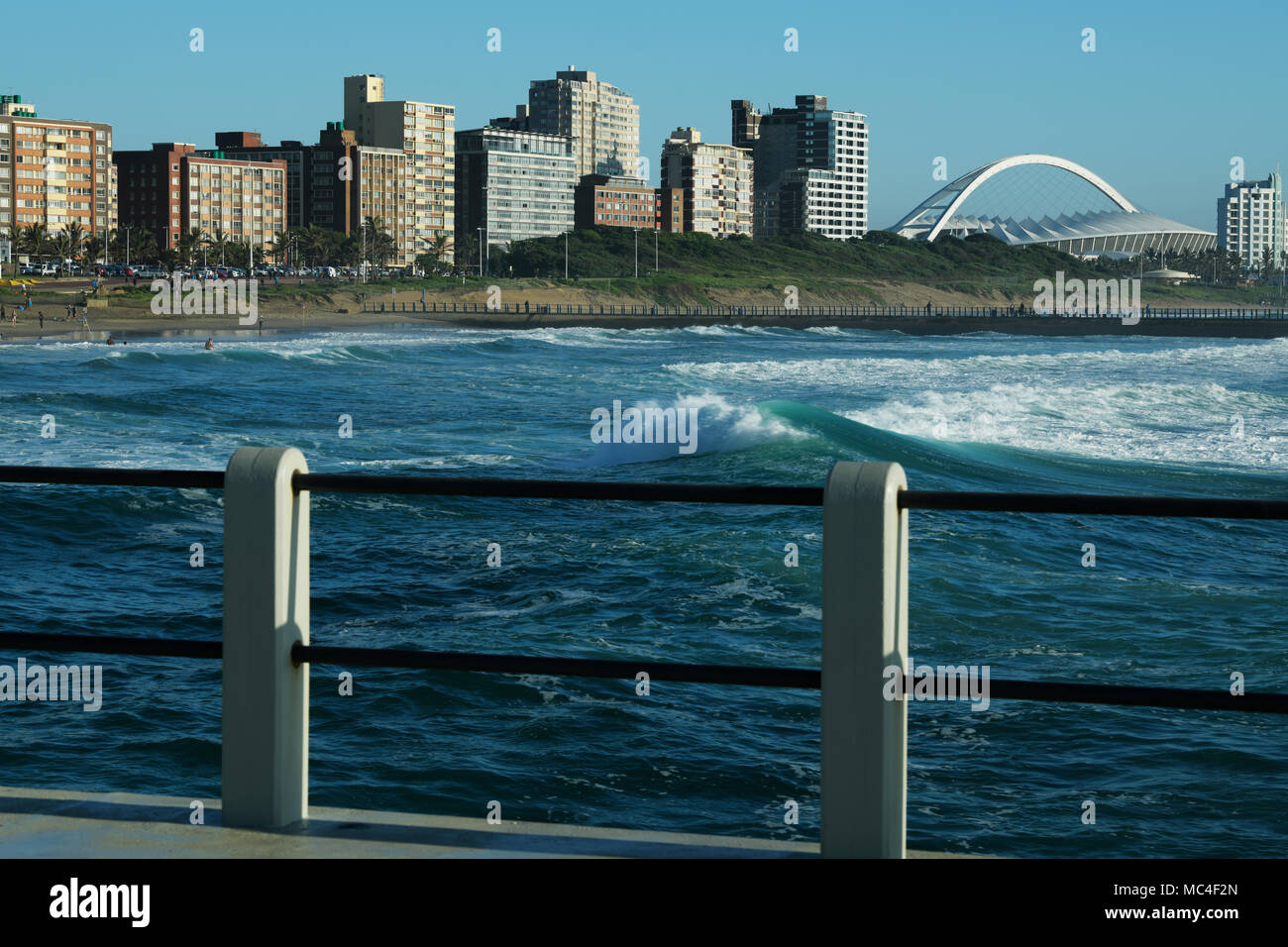 Outline Of Hotels And Apartments Along The Golden Mile Beachfront Of