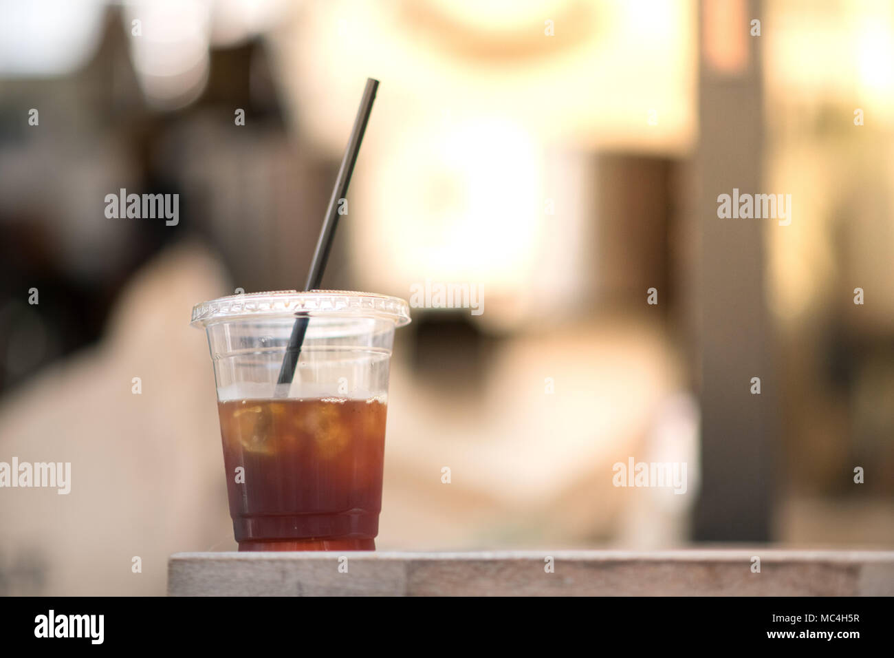very refreshment and delicious cold brew ice coffee beverage recipe - Stock Image