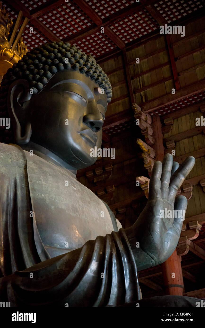 Big Buddha at Kofuku-ji, the World Heritage Temple in Nara, Japan. Nara is located very close by Kyoto. - Stock Image
