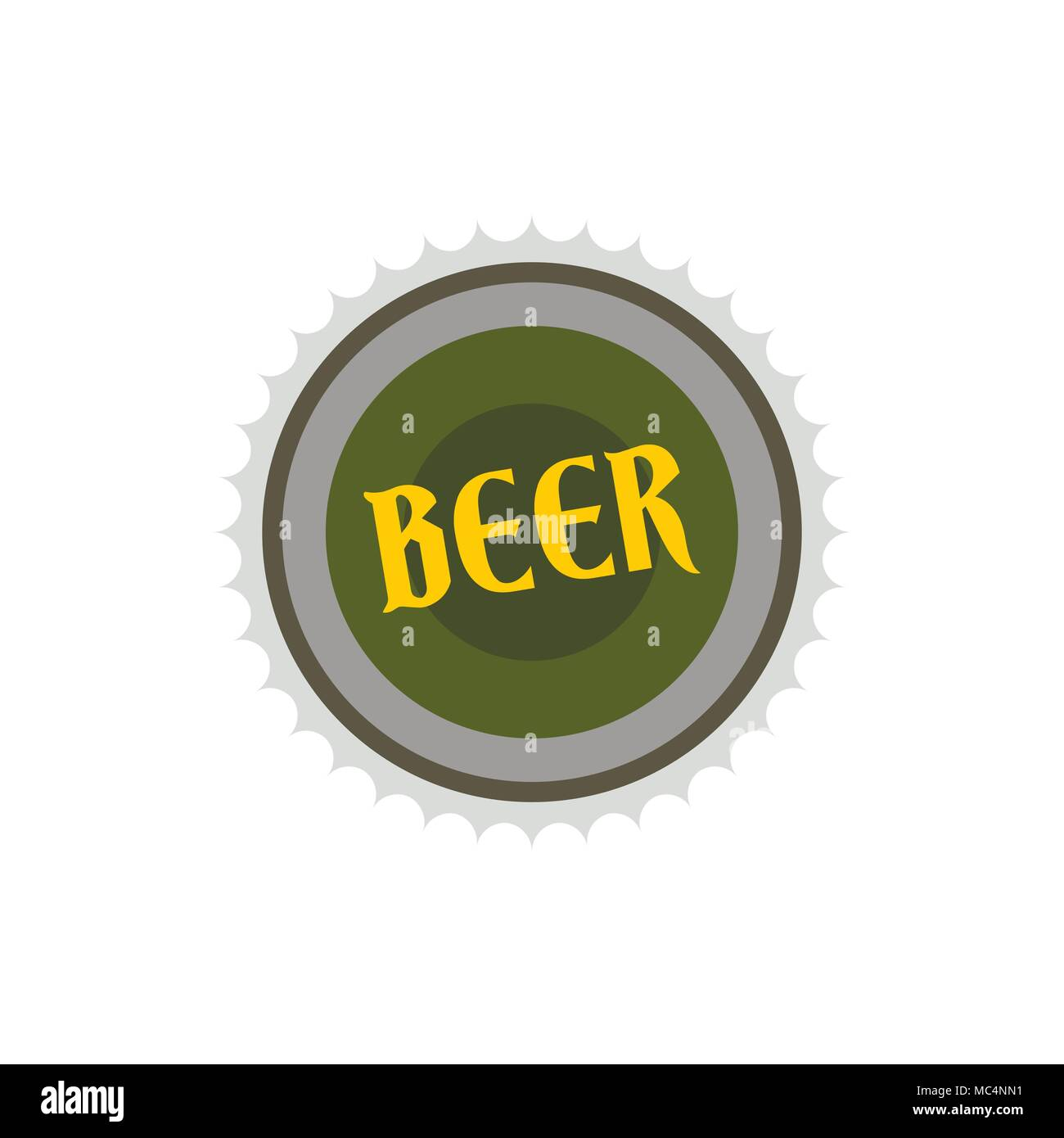 Label for beer icon, flat style Stock Vector