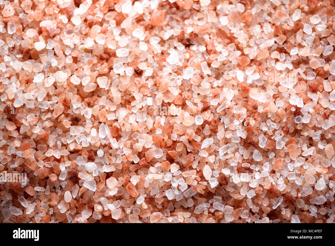 Pink himalayan salt background. Ingredients for cooking. Banner - Stock Image