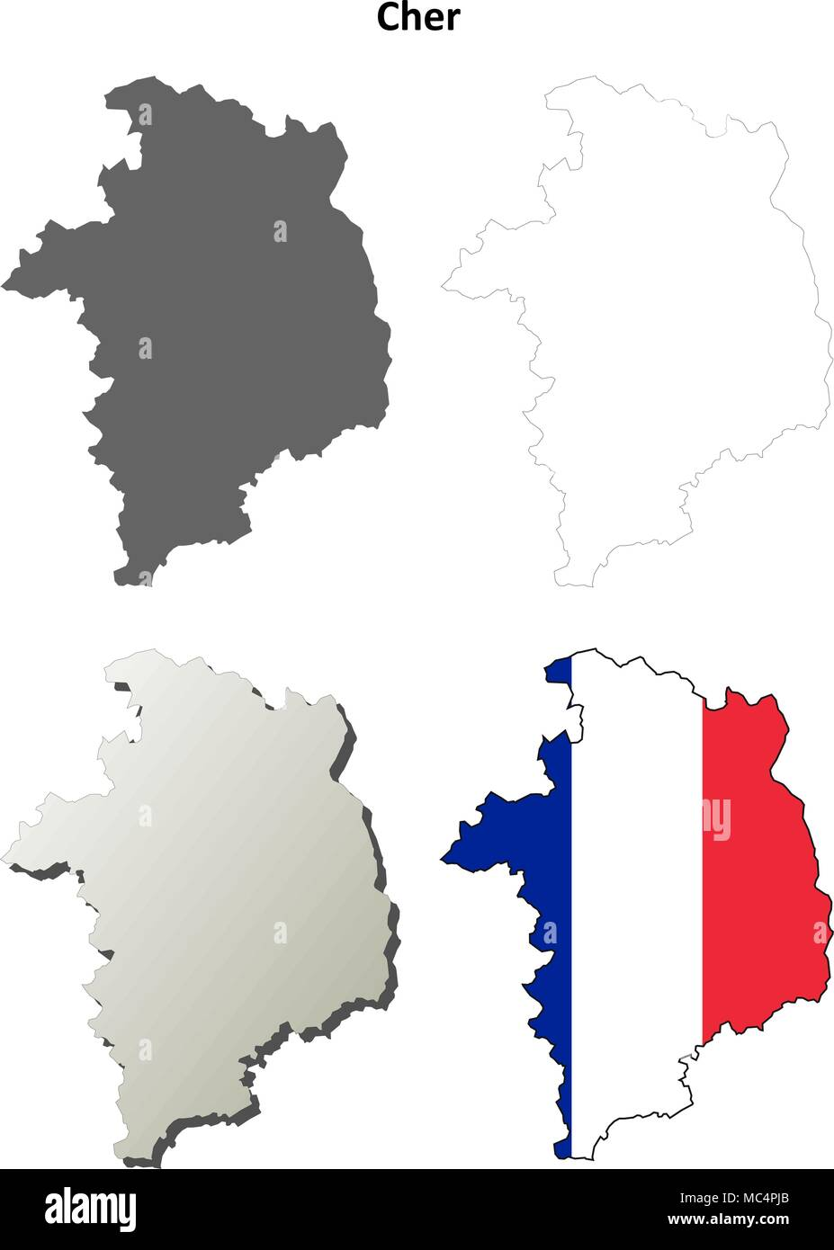 Map Bourges France Stock Photos Map Bourges France Stock Images