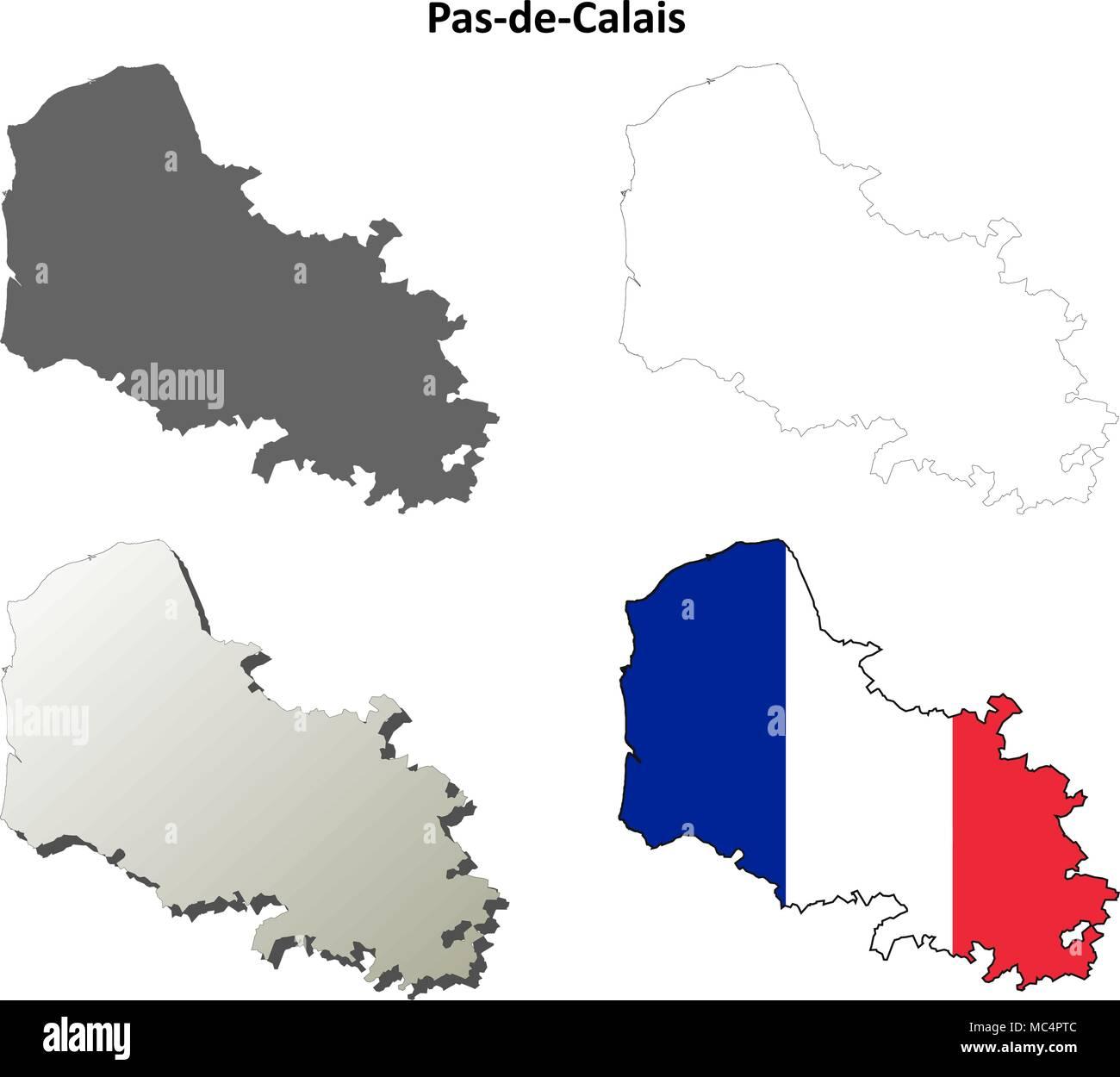 Pas De Calais Map Stock Photos Pas De Calais Map Stock Images Alamy