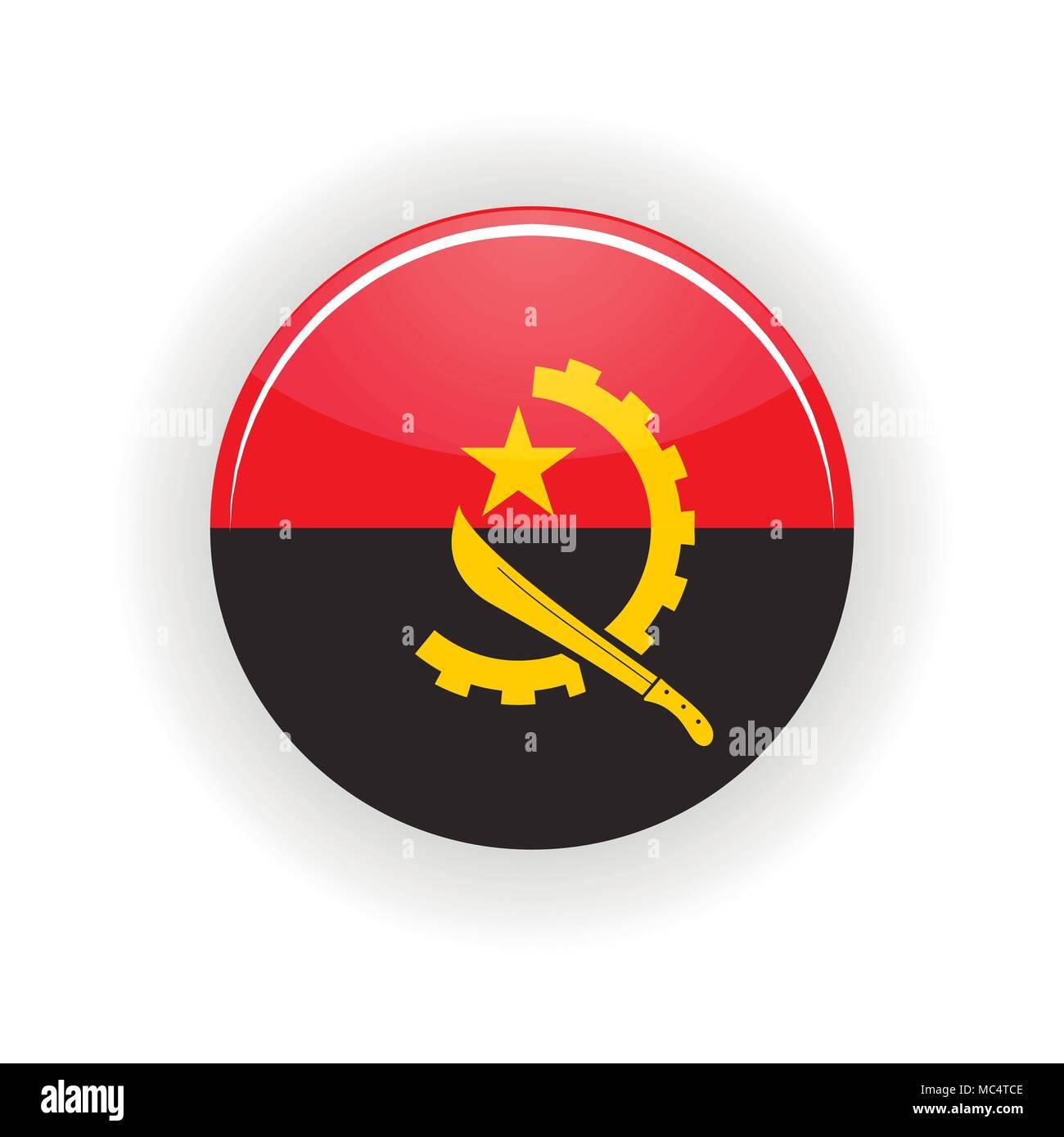Angola icon circle - Stock Vector