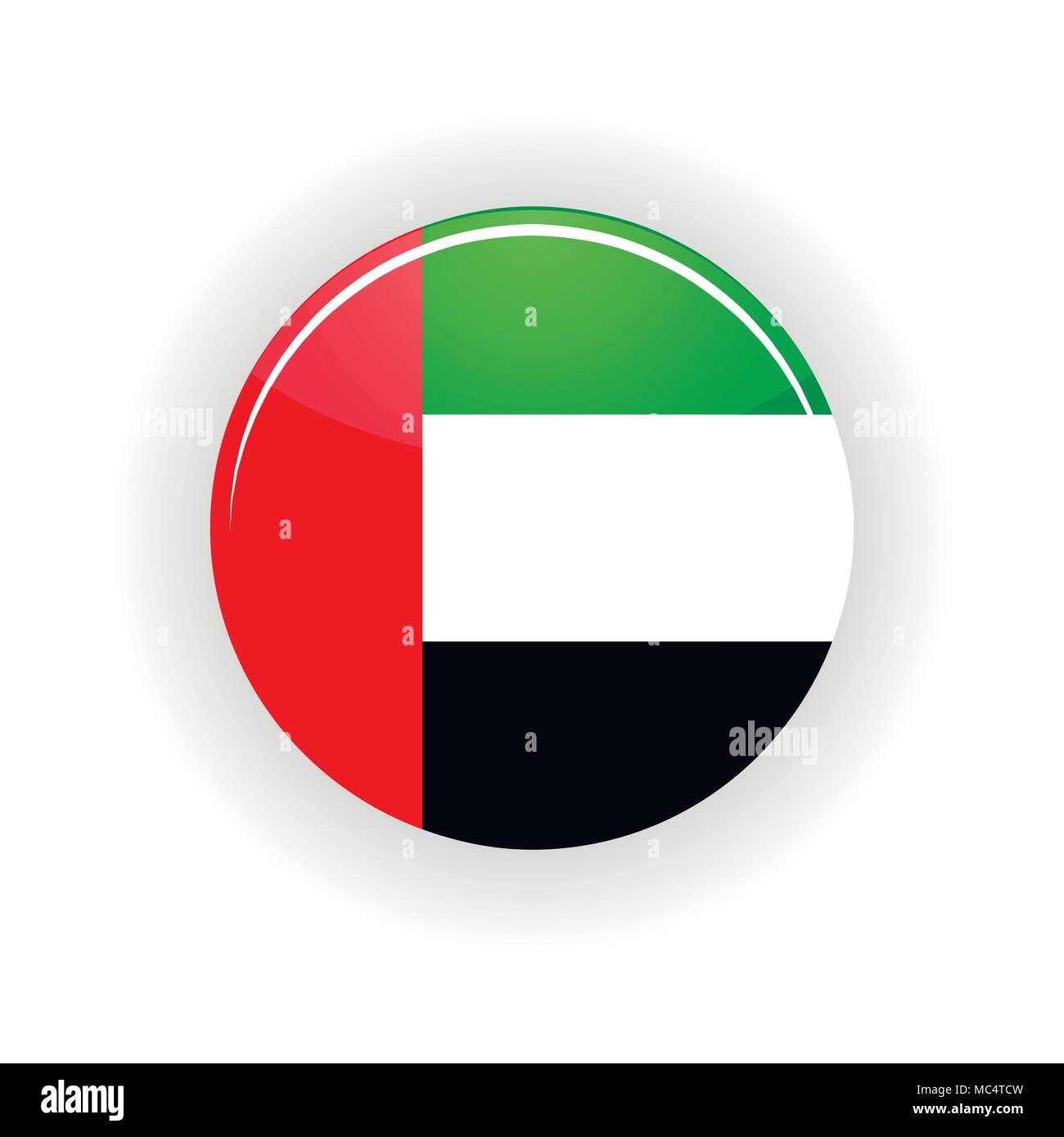 United Arab Emirates icon circle - Stock Image