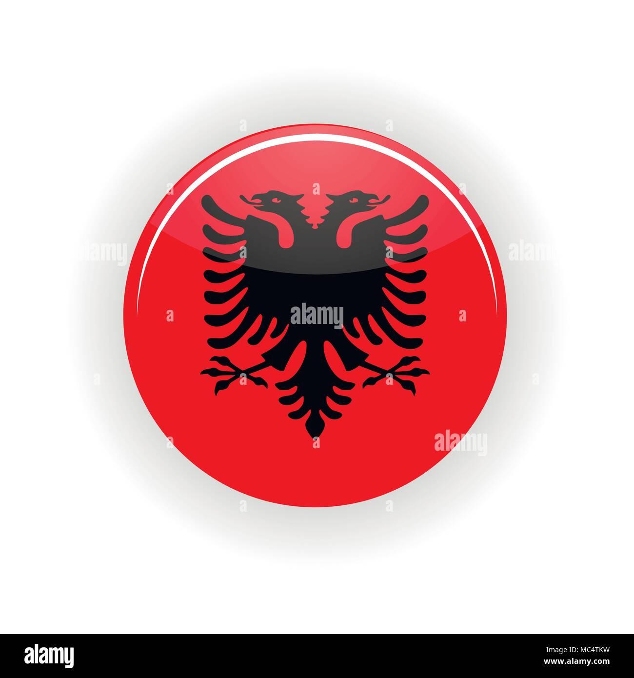 Albania icon circle - Stock Vector