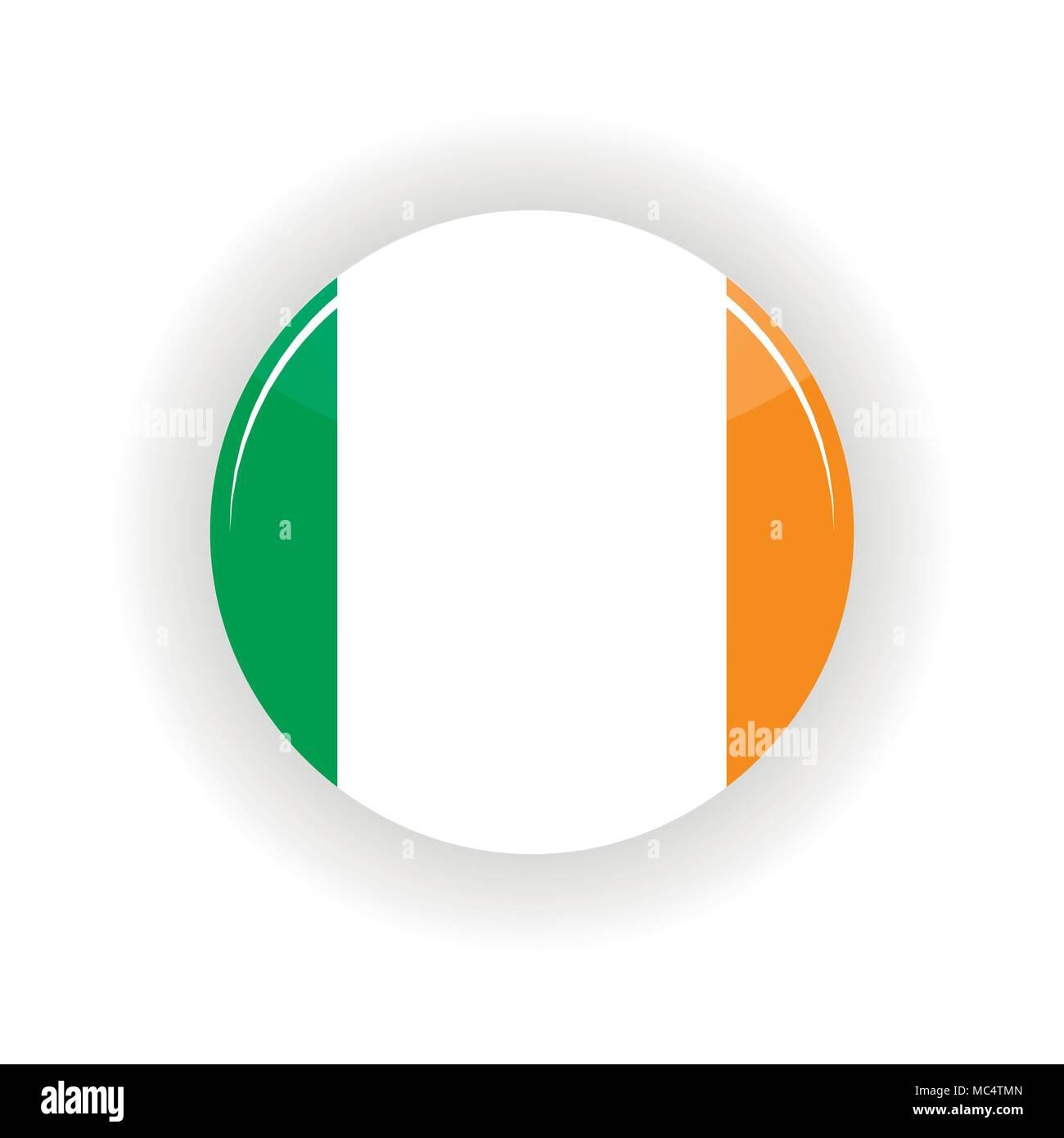 Ireland icon circle - Stock Vector