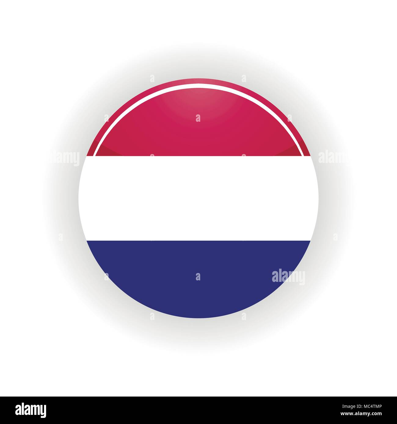 Netherlands icon circle - Stock Vector