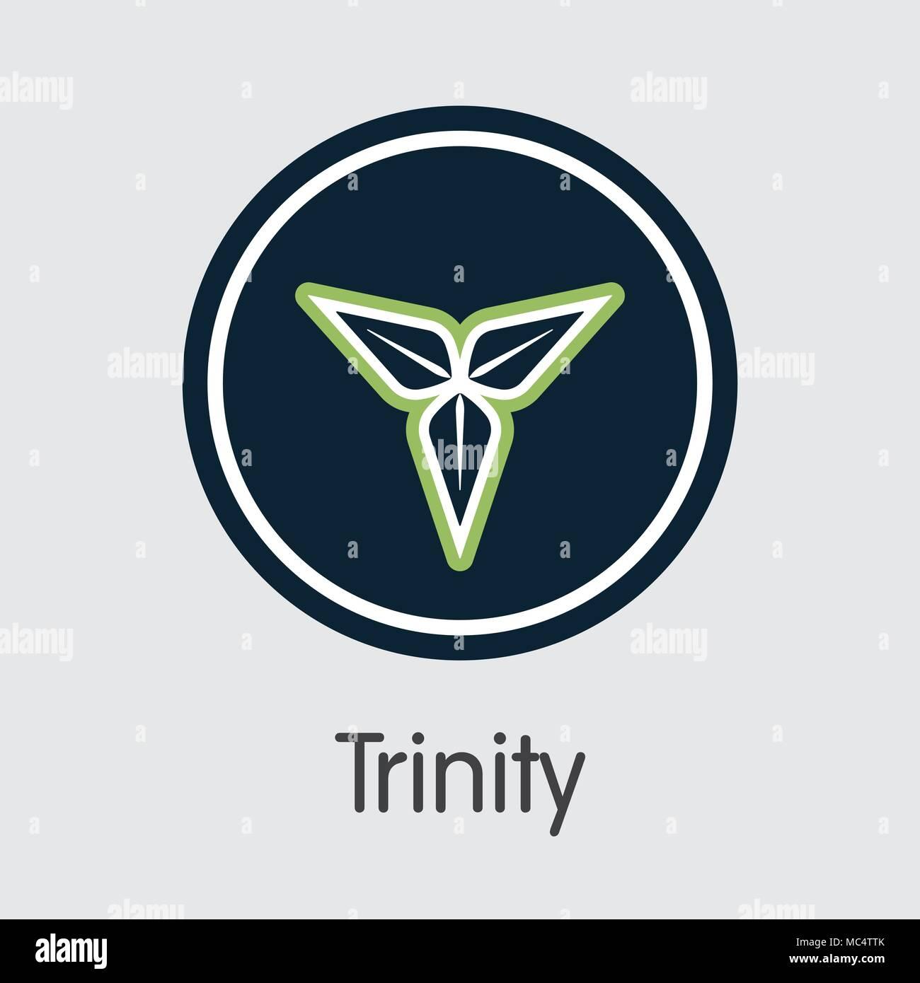 Trinity Cryptocurrency. Vector TTY Web Icon. - Stock Vector