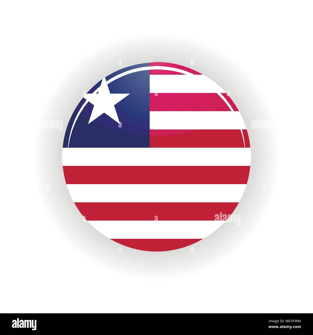 Liberia icon circle - Stock Image