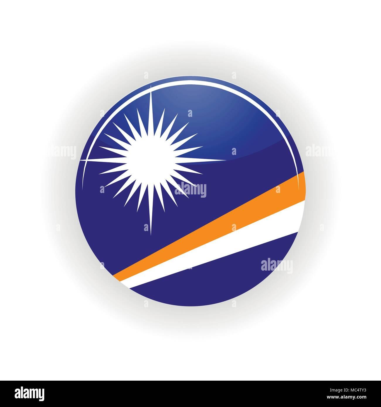 Marshall Islands icon circle - Stock Image