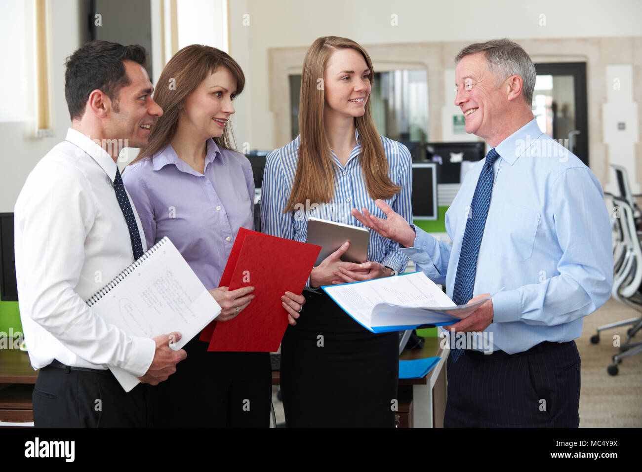 Business Team Having Meeting In Modern Office - Stock Image