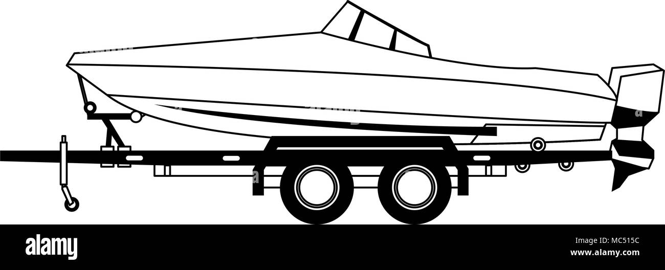 Speedboat Black and White Stock Photos & Images - Alamy