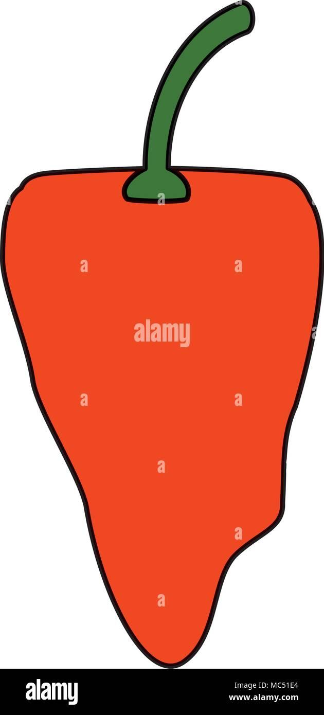 habanero chili pepper icon over white background, colorful design. vector illustration Stock Vector