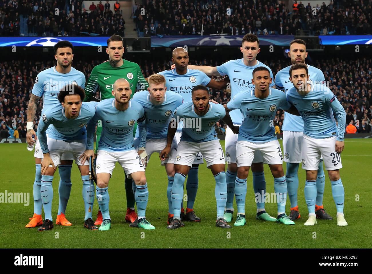 Manchester city match line up