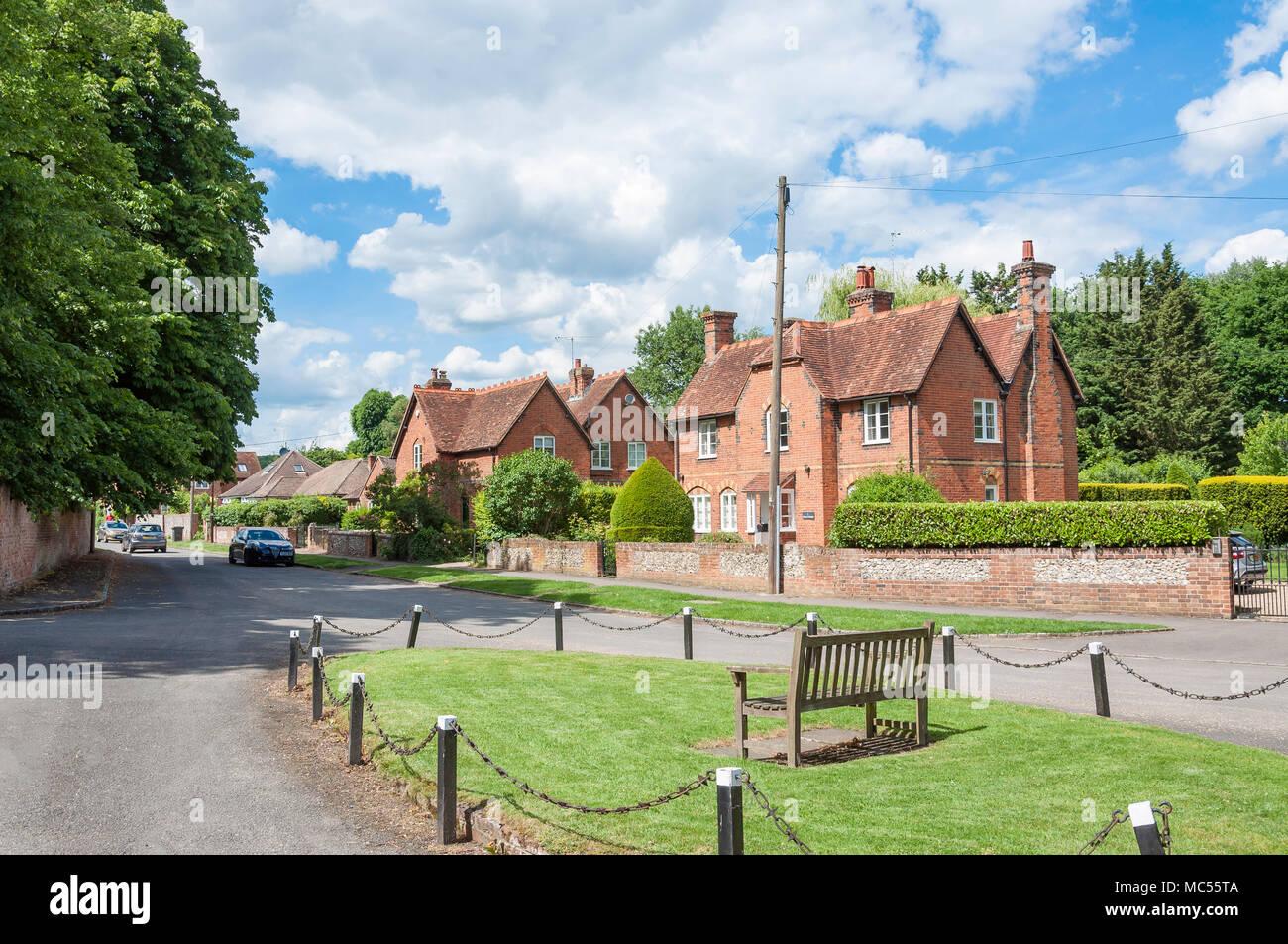 Houses on Church Road, Little Marlow, Buckinghamshire, England, United Kingdom Stock Photo