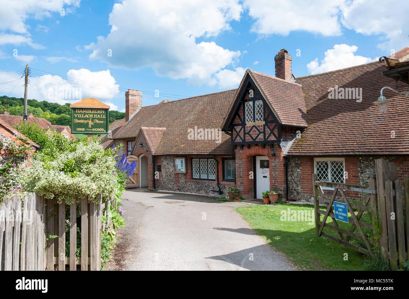 Hambledon Village Hall, Hambleden, Buckinghamshire, England, United Kingdom - Stock Image