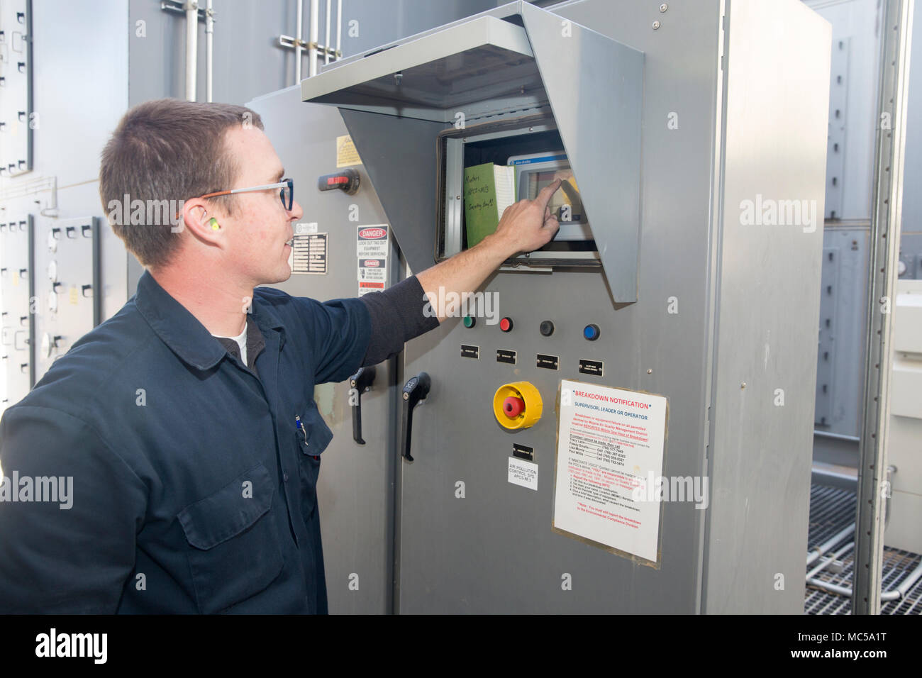 pem stock photos pem stock images alamy daniel coghill industrial electronic controls technician checks on one of the air cleaning towers pem is responsible - Controls Technician Job Description